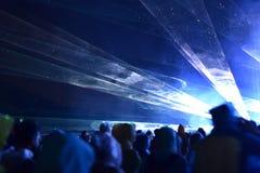 Lumières d'étape au concert Photo stock