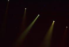 Lumières d'étape au concert Image stock