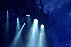 Lumières d'étape au concert Images stock