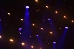 Lumières d'étape au concert Photos stock