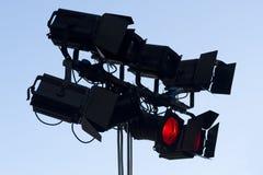 Lumières d'étape d'endroit Photos libres de droits