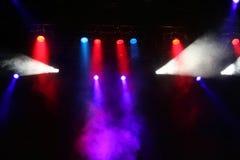Lumières d'étape de concert Images libres de droits
