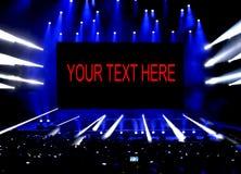 Lumières d'étape de représentation et d'espace de copie à votre texte Image stock