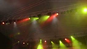 Lumières d'étape - longueur de HD 1080p banque de vidéos