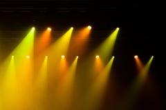 Lumières d'étape sur le concert Images libres de droits