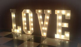 Lumières d'amour Photographie stock