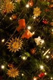 Lumières d'arbre de Noël Images libres de droits