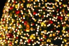 Lumières d'arbre de Noël Photographie stock