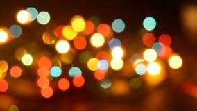 Lumières d'arbre de Noël de clignotement banque de vidéos