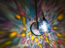 Lumières d'arc-en-ciel sur le mur 1 Photos libres de droits