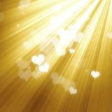 lumières d'or de fond illustration stock