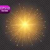 lumières d'or de fond Concept de lumières de Noël Illustration de vecteur illustration libre de droits