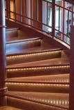 Lumières d'escalier Photos libres de droits