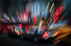 Lumières d'illumination et de nuit de New York City images libres de droits