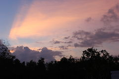 Lumières d'un coucher du soleil Photos stock