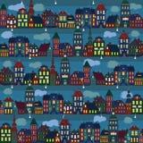 Lumières d'une petite ville illustration de vecteur