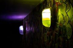 Lumières dans l'obscurité Photo stock