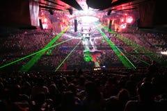 Lumières dans la salle de concert Photos stock
