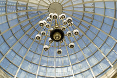 Lumières dans le ciel Image stock