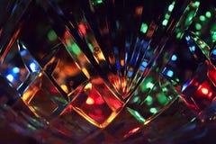 Lumières dans le vase en cristal Photo stock