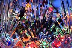 Lumières dans le vase en cristal Photographie stock