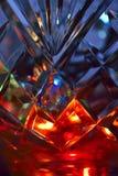 Lumières dans le vase en cristal photos stock