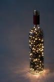 Lumières dans une bouteille Photo libre de droits
