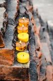 Lumières de bougie, Inde Photos libres de droits
