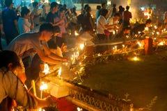 Lumières de bougie, Thaïlande Photo stock