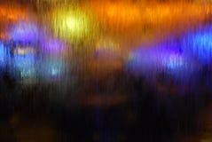 Lumières de cascade à écriture ligne par ligne photographie stock libre de droits