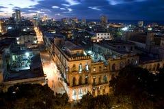 Lumières de centro La Havane, Cuba Photographie stock libre de droits