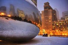 Lumières de Chicago images libres de droits
