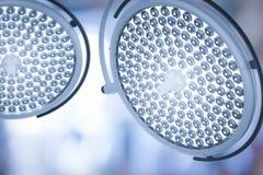 Lumières de chirurgie ou lampes médicales Photos libres de droits
