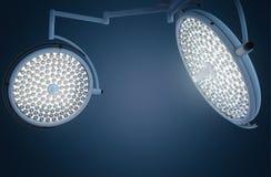 Lumières de chirurgie ou lampes médicales Images stock