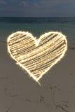 Lumières de coeur Photographie stock