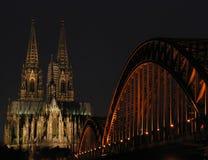 Lumières de Cologne image libre de droits