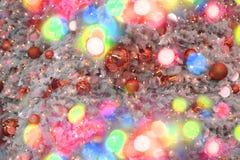 Lumières de couleur de Noël comme fond de vacances Photographie stock libre de droits