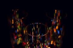 Lumières de couleur de vacances Images libres de droits