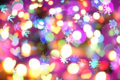 Lumières de couleur de Noël Image libre de droits