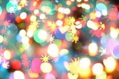 Lumières de couleur de Noël Photographie stock libre de droits