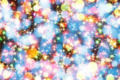 Lumières de couleur de Noël Images libres de droits