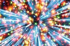 Lumières de couleur de Noël Images stock