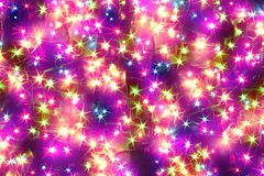 Lumières de couleur de Noël Photographie stock
