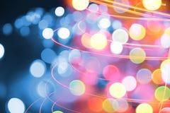 Lumières de couleur de Noël Photo libre de droits