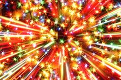 Lumières de couleur de Noël Photos stock
