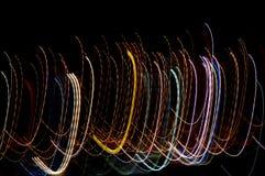 lumières de courbement photographie stock libre de droits