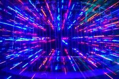 Lumières de disco Photographie stock
