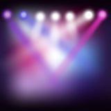 Lumières de disco Image libre de droits
