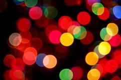 Lumières de disco d'arc-en-ciel Photographie stock