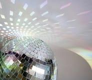 Lumières de Discoball Photographie stock libre de droits